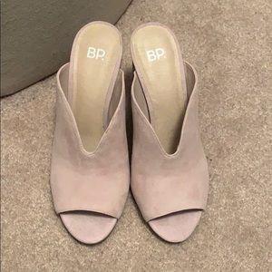 e732de1fc18 Bp light pink mule sandals